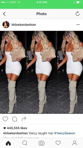 shoes khloe kardashian thigh high boots dress white white dress bodycon bodycon dress mini mini dress party dress sexy party dresses sexy sexy dress party outfits sexy outfit summer dress summer outfits spring dress spring outfits fall dress fall outfits classy dress cocktail dress pool party celebrity style holiday dress cute cute dress girly girly dress date outfit birthday dress summer holidays clubwear club dress graduation dress engagement party dress dope tight