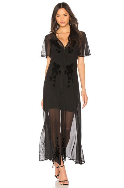 Minkpink dress mesh dress mesh black
