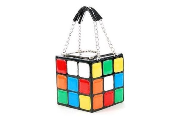 bag colorful cute colorful cube rainbow handbag