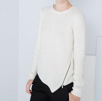 sweater asymetric zip