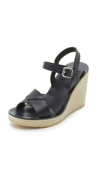 dark sandals wedge sandals navy shoes