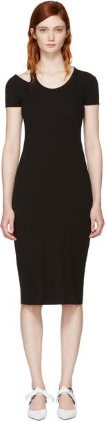 Helmut Lang dress shirt dress t-shirt dress black
