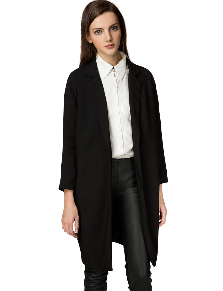 Black slouchy long blazer