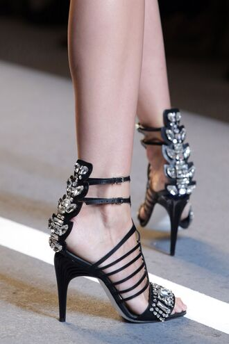 shoes high heels high heels shoes high heel sandals sandals sandal heels jewels silver black black shoes ankle strap ankle strap heels ankle strap high heels open toes open toe open toes heels open toe sandals