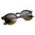 Oversize Vintage Designer Inspired Round Indie Half Frame Sunglasses