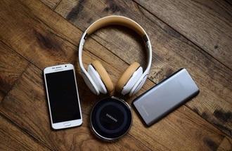 earphones headphones white music