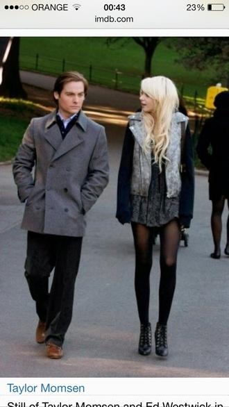 jacket gossip girl taylor momsen skirt shirt shoes