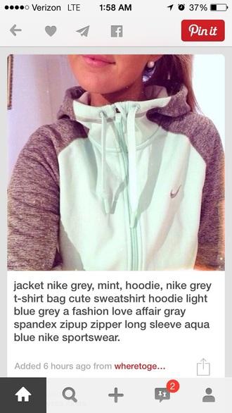 coat nike jacket mint