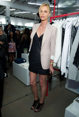 dress charlize theron sandals jacket