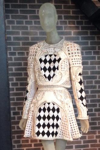 dress paris balmain pfw