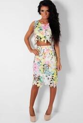 skirt,multicolor,cut-out,midi skirt