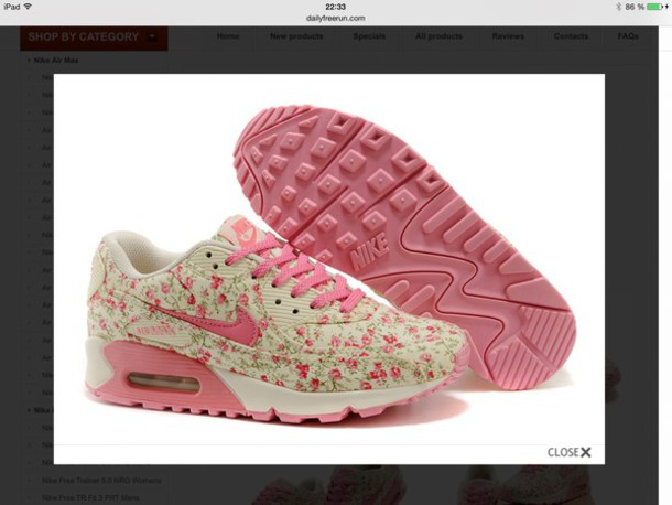 shoes floral shoes air max pink
