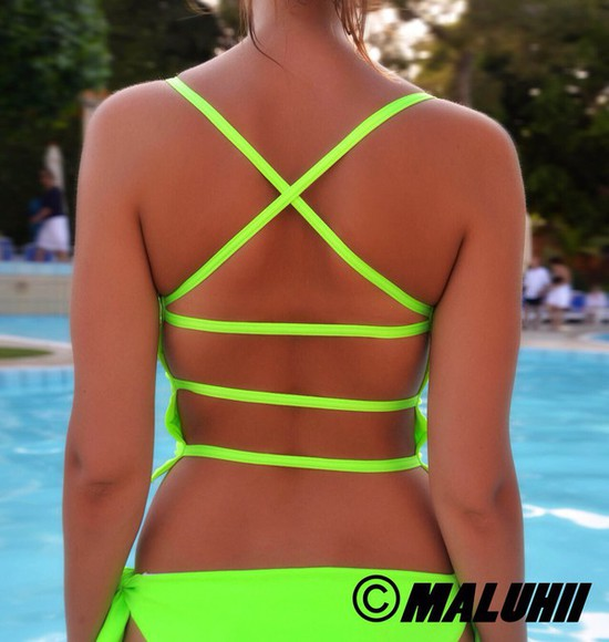 green sportswear neon swimwear flo lime bikini brazilian bikini one piece swimsuit sportsbra strappy bikini neon bikini bikini bottoms sexy dress sexy bikini maluhii maluhii sportsbra maluhii swimwear gym clothes fashion fitness workout tank tops