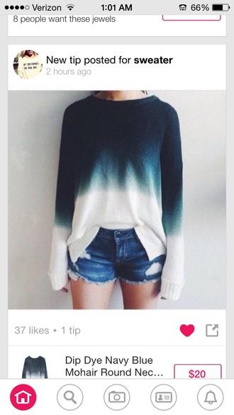 sweater oversized dark to light ombre