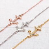 jewels,jewelry,bracelets,anchor bracelet,anchor,arrow,summer,cool