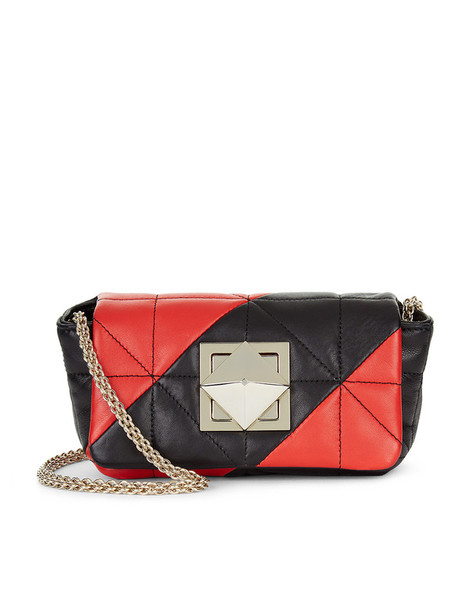 Sonia Rykiel mini quilted bag mini bag leather red print