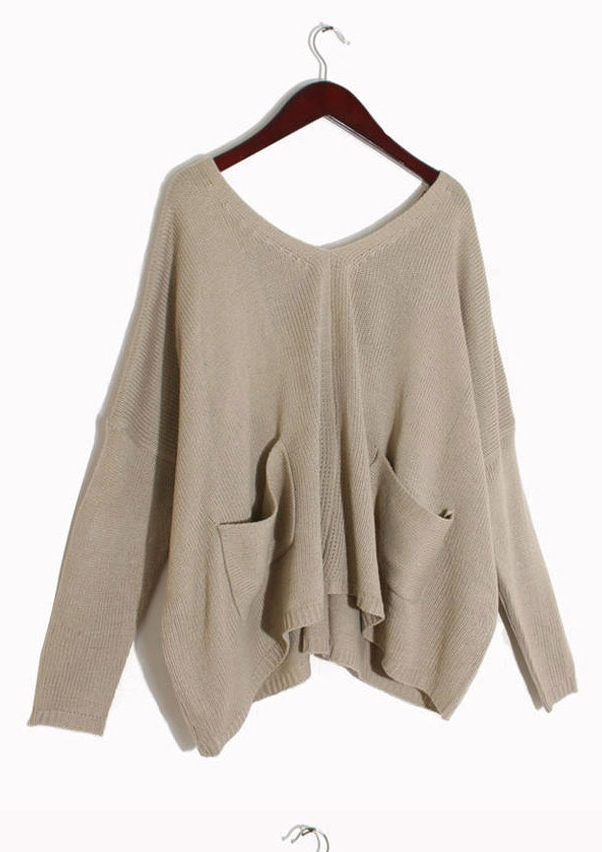 Aliexpress.com : Buy 2014 New Women's Batwing Cape Ponchos Oversize Irregular Knitwear Sweater Tops Pullover Jumper Navy Apricot Free Shipping from Reliable sweater cardigan suppliers on Shenzhen Gache Trading Limited