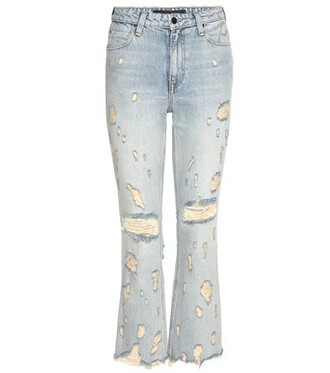 jeans cropped high blue