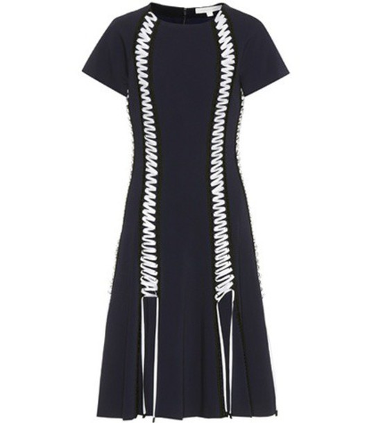 Jonathan Simkhai Dress with lace-up detailing in blue