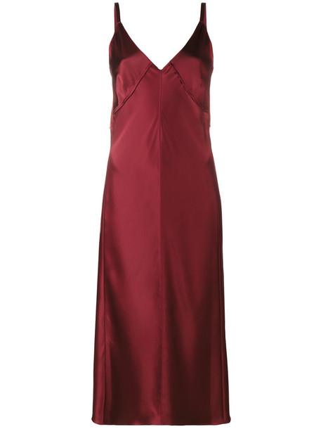 Helmut Lang dress slip dress sleeveless women shell red