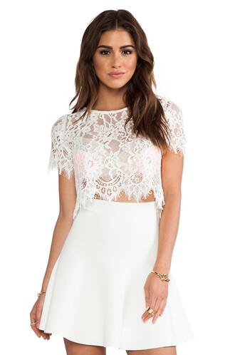 top lace crop top lace