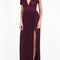Elie saab women`s v-neck pleated gown