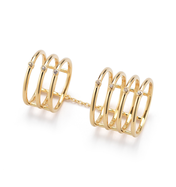 Gold Berlin Knuckle Ring | Stone & Strand