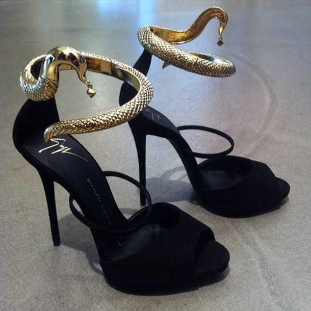 shoes black heels snake strap snake sandal heels amazing