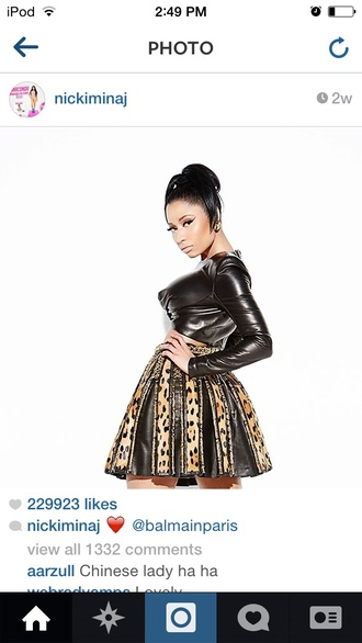 skirt nicki minaj balmain