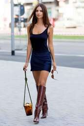 bag,emily ratajkowski,model off-duty,mini dress,fashion week,streetstyle
