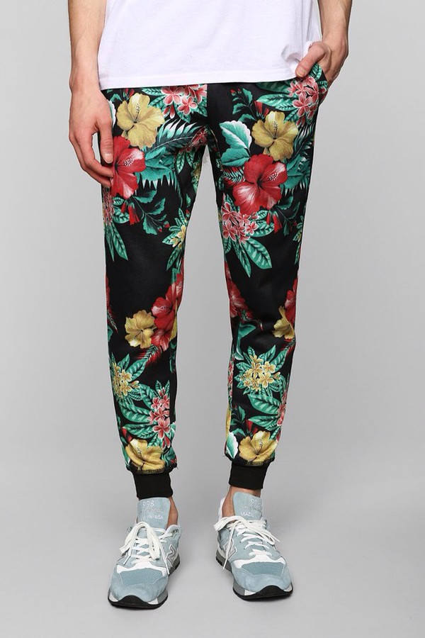 pants urban outfitters floral joggers