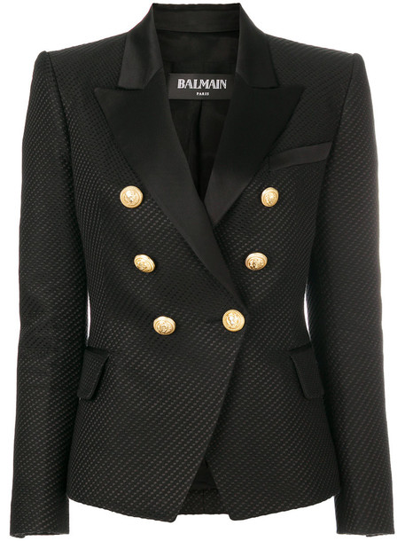 Balmain blazer women cotton black silk jacket
