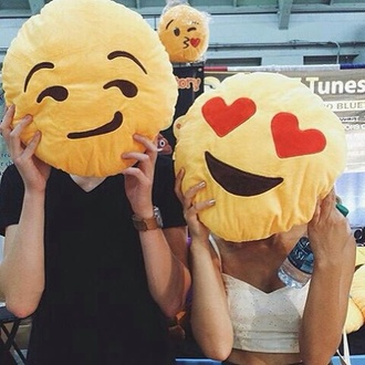 home accessory emoji print emoji pillow pillow sleep pillow