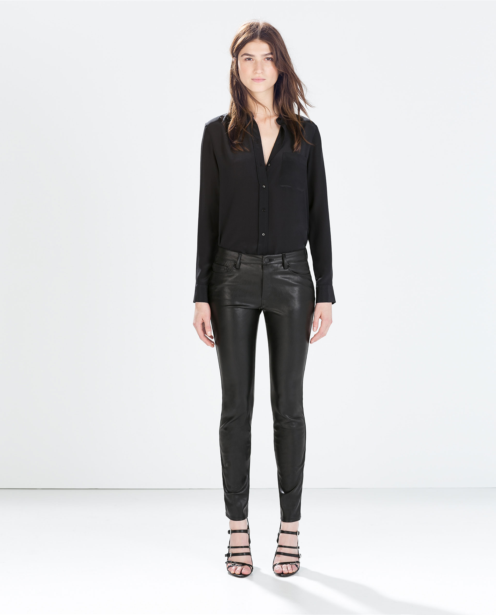 23725742 FAUX LEATHER SKINNY JEANS - View all - Trousers - WOMAN - SALE | ZARA  United States