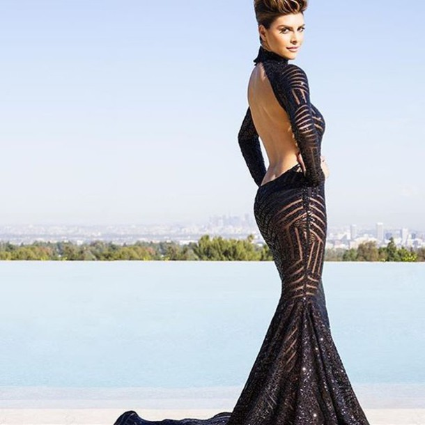 Dress Shiva Safai Celebrity Maxi Dress Black Dress Black Maxi