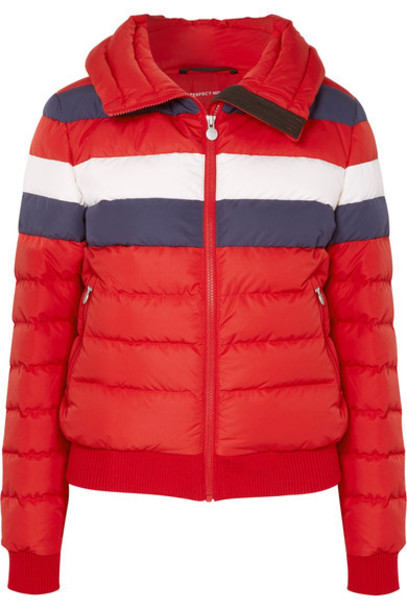 Perfect Moment jacket down jacket quilted red