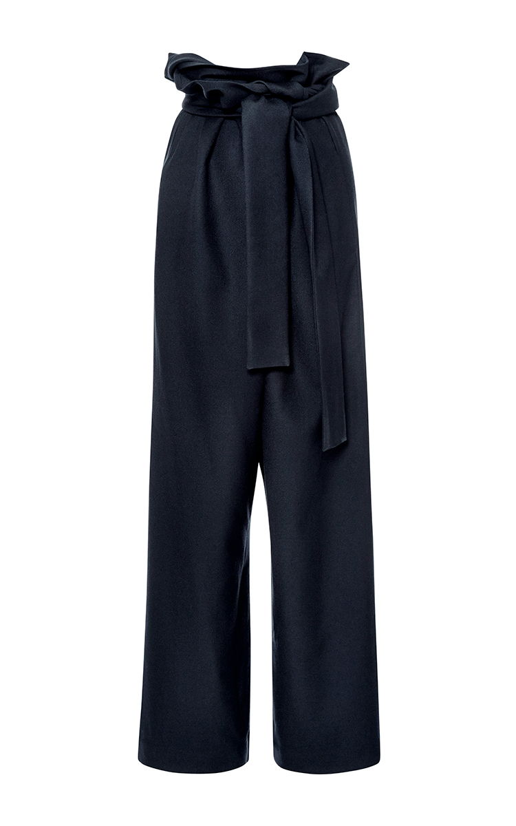 Flannel wrap pants by marni