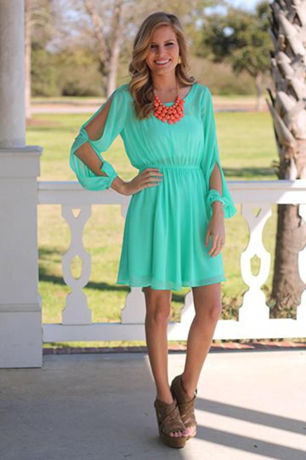 neon dress mint