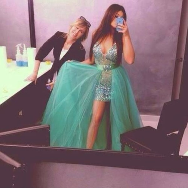 dress prom dress cute dress glitter dress long prom dress sequin dress green