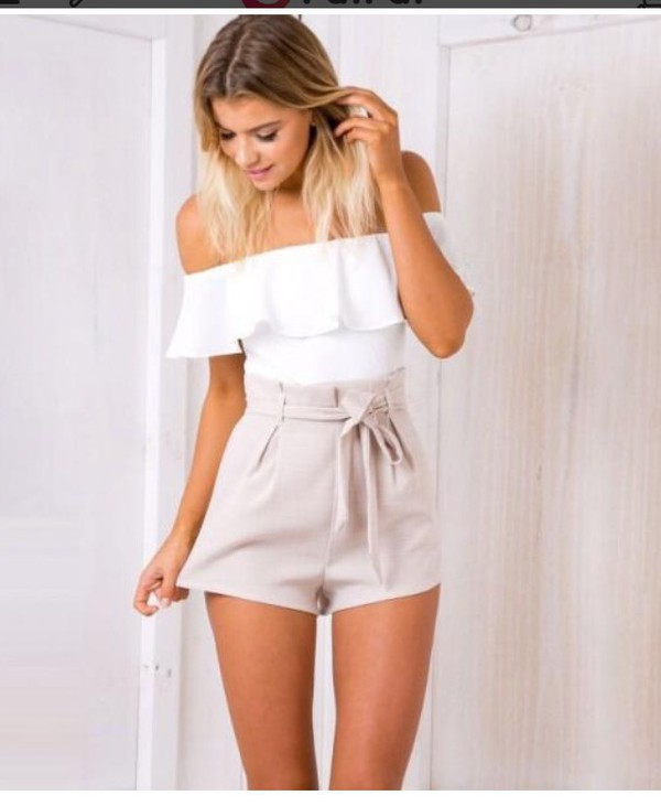 romper girly girl girly wishlist off the shoulder cute white