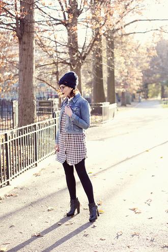 keiko lynn blogger shirt denim jacket