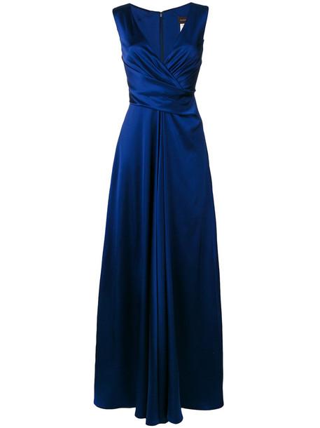 Talbot Runhof gown women spandex blue dress