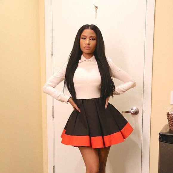nicki minaj tri colored dress dress