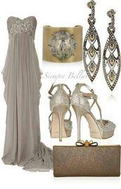 dress,gown,evening dress,prom,strapless dress,grey dress,brown dress,abiball,prom dress