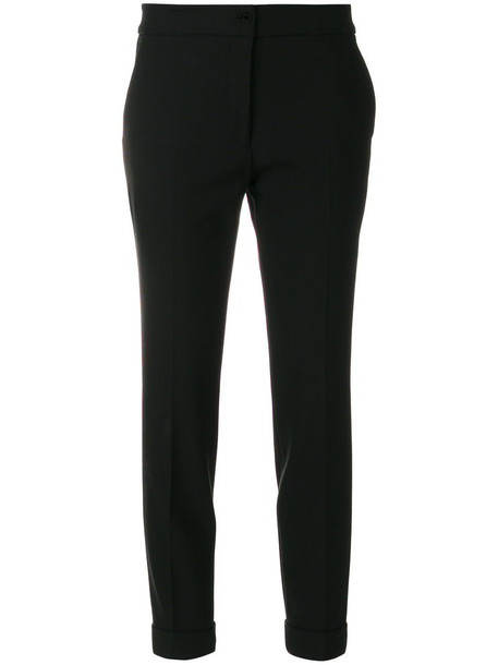 ETRO cropped women spandex black wool pants