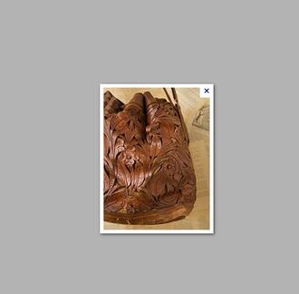 bag leather bucket bag tooled tooling boho bohemian flowers