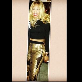 pants trina gold sequins glitter joggers joggers pants mesh