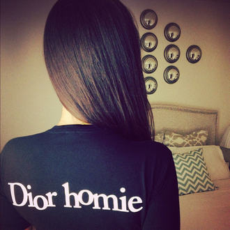shirt dior long sleeves black rosy