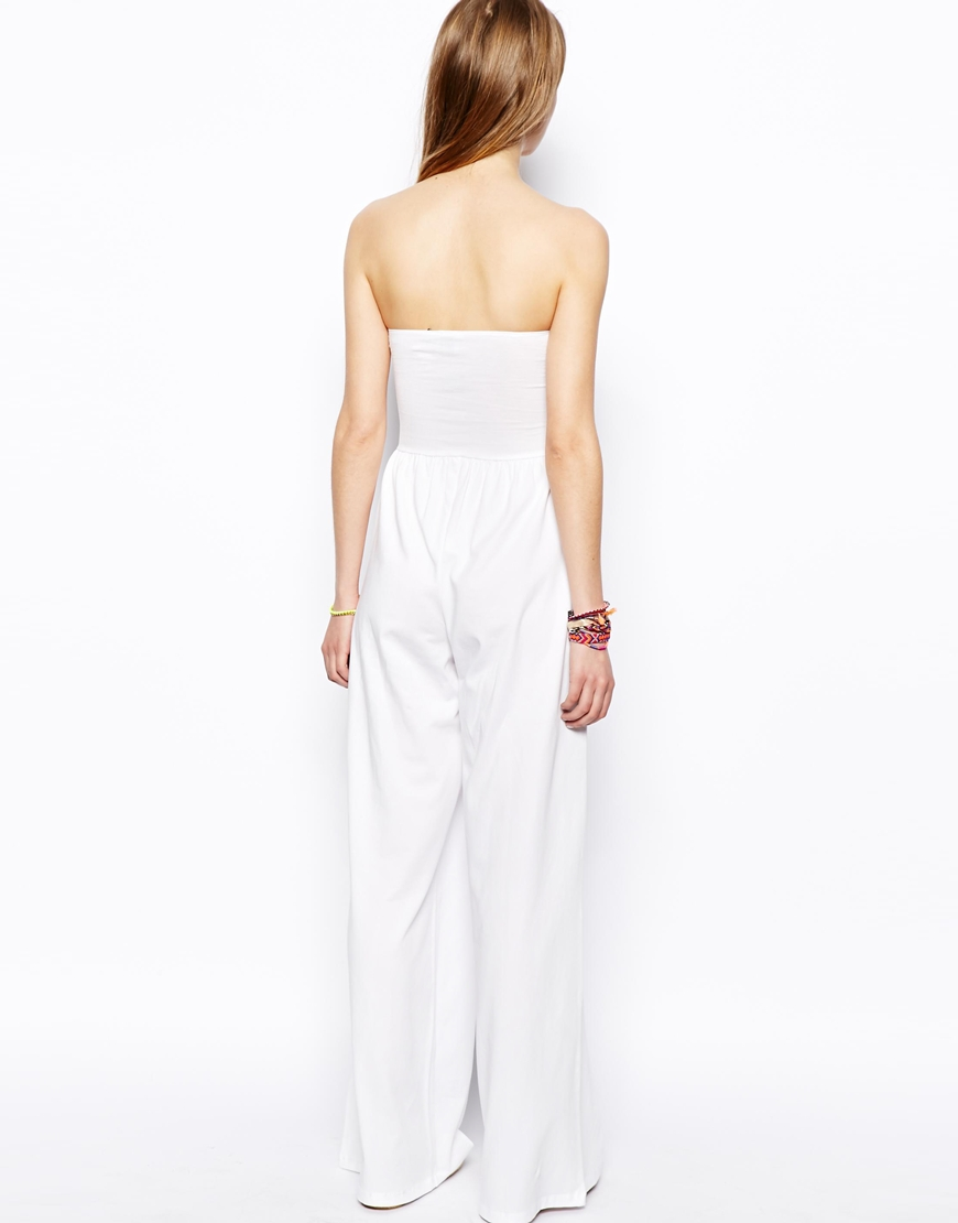 ASOS Bandeau Jumpsuit With Wide Leg at asos.com