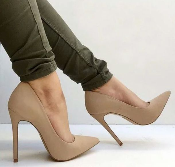 Nude Pointed High Heels